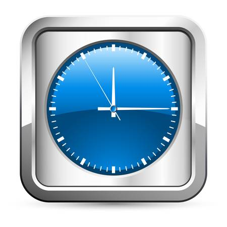 clock button Vector