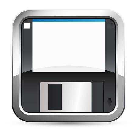 save / floppy disk button Stock Vector - 18135454