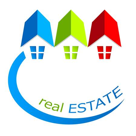 house, real estate sign Ilustrace