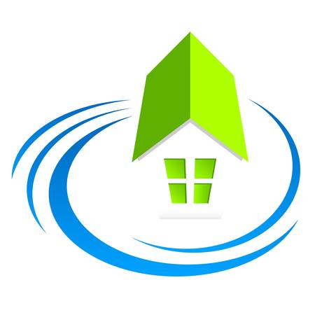 house, real estate sign Ilustracja