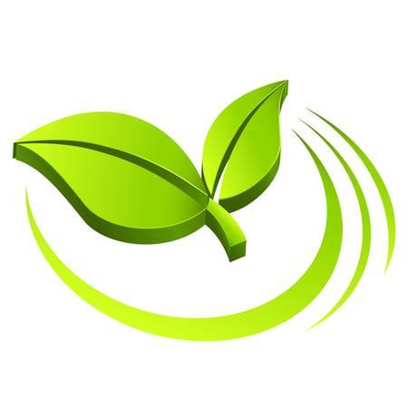 green eco sign Иллюстрация
