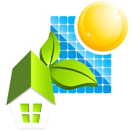 sustainable house Vector