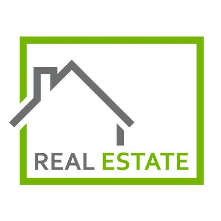 house roof: house, real estate - sign