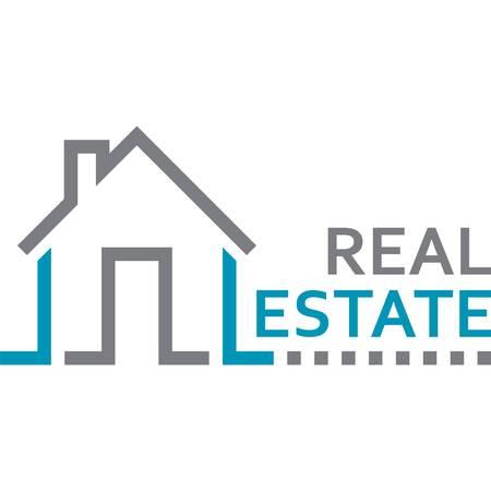 house, real estate sign Illustration