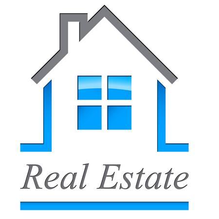 agente comercial: casa  signo de bienes ra�ces Vectores