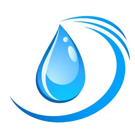 reflectie water: waterdruppel teken Stock Illustratie