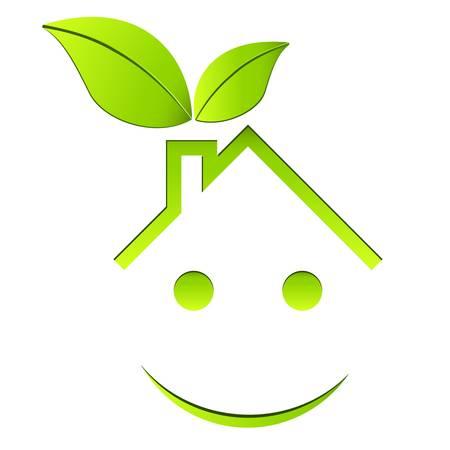sostenibilit�: casa eco friendly Vettoriali