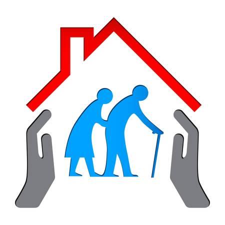 ancianos caminando: Enfermería signo hogar