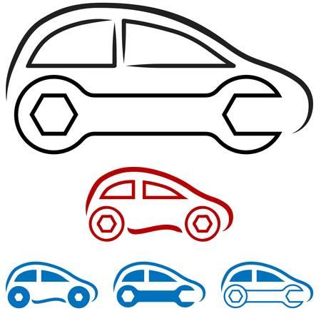 driving a car: Coche s?mbolo