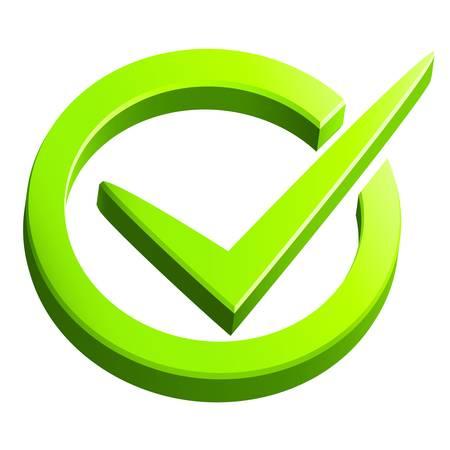 check mark symbol Иллюстрация