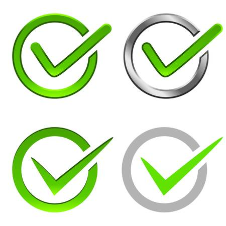 check mark symbol Illustration