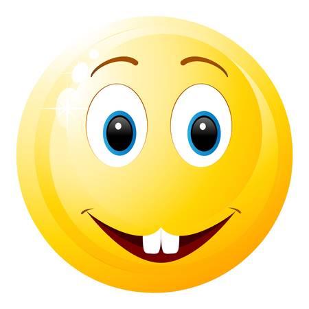 risas: smiley con 2 dientes