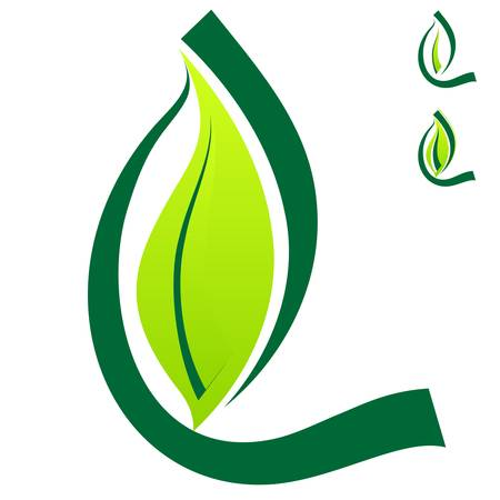 ecological environment: green eco sign Illustration
