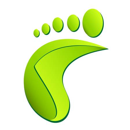 pedicure: footprint, foot care symbol Illustration