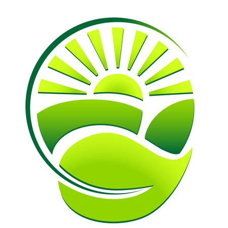green eco sign 向量圖像