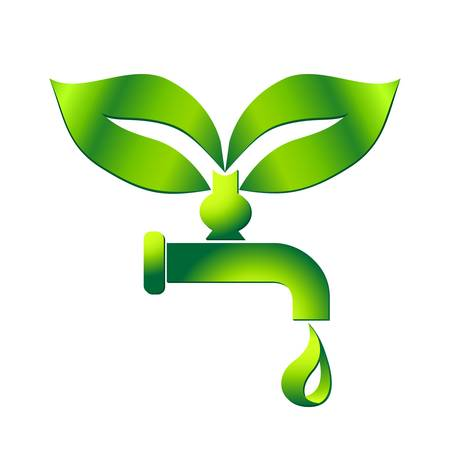 water tap with drop - eco sign