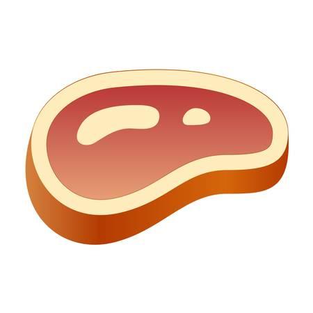 raw pork: steak, meat - icon