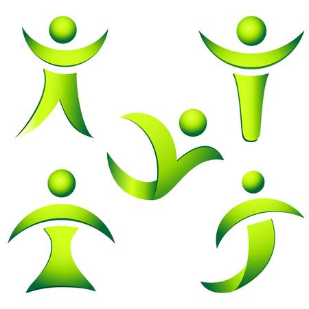 green people vector collection  Vector