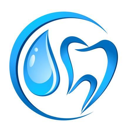 tandheelkundige zorg tekenen Stock Illustratie