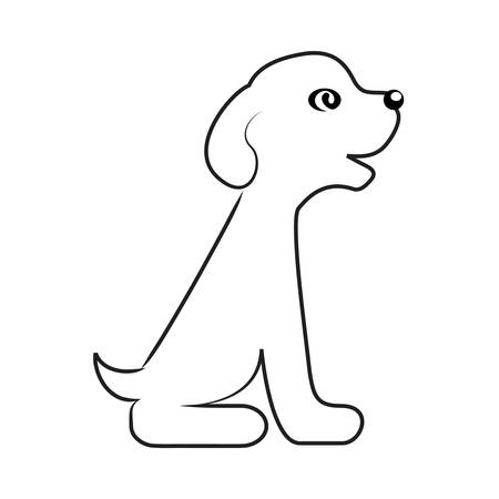 dog outline: cute puppy