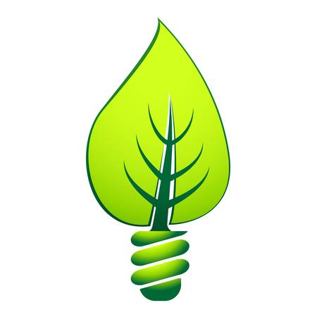green light bulb: eco light bulb