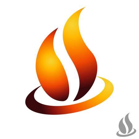 calentador: icono de fuego