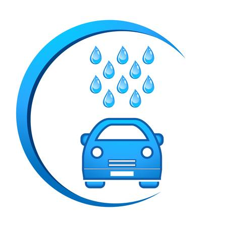 washing symbol: car wash icon Illustration
