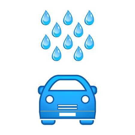 auto washing: car wash icon Illustration