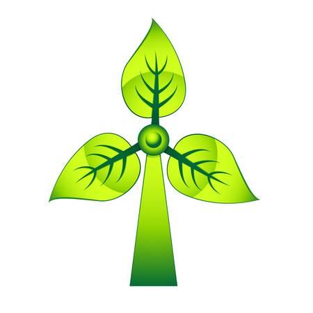 regenerating: windmill - green electricity