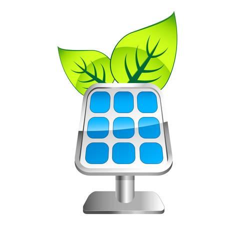 thermal power plant: icono de panel solar  Vectores