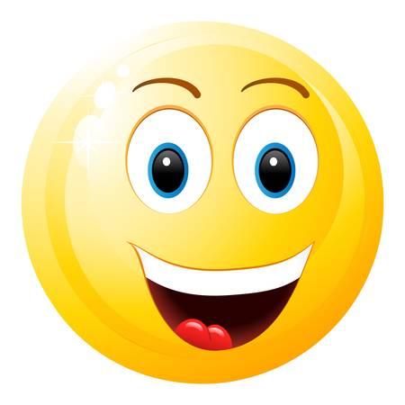 ersch�pft: Smiley mit offenem Mund Illustration