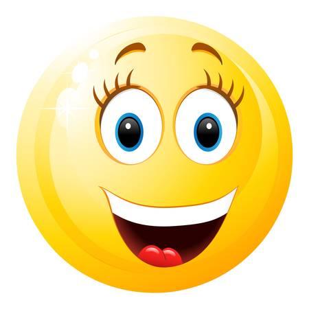 lachen smiley meisje Stock Illustratie