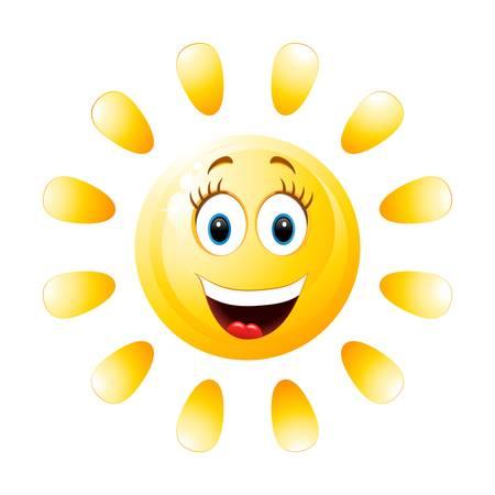 smiling sun Stock Vector - 21950620