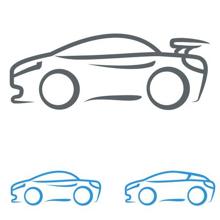sports car: sports car Illustration