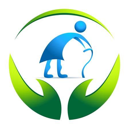 seniorenheim: Pflegeheim Zeichen Illustration