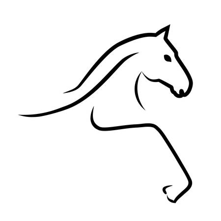 horse running: horse - sign  Illustration