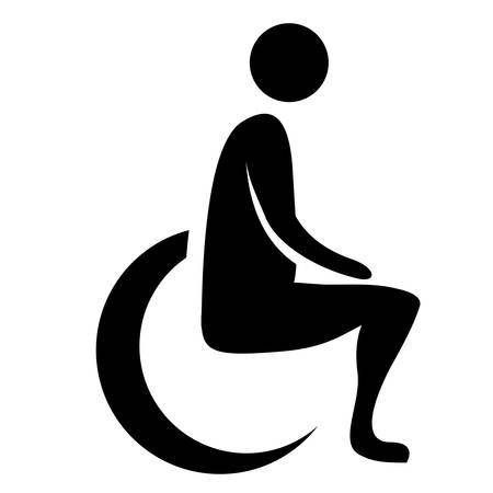 disabled parking sign: wheelchair handicap icon