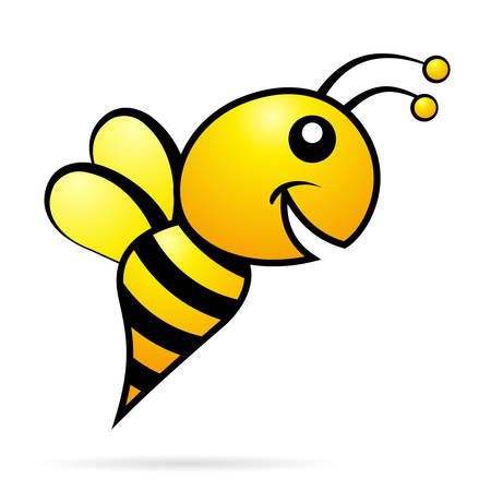 smiling bee - icon Vector