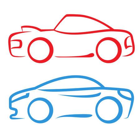 rent a car: sports car - sign symbol