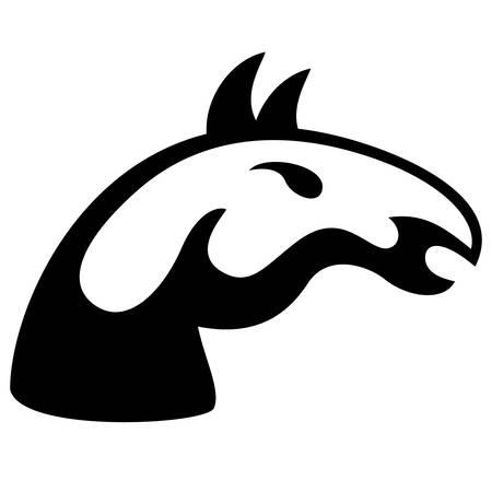 cabeza de caballo: cabeza de caballo - signo Vectores
