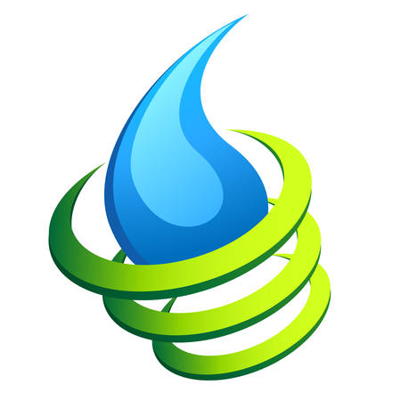 safe water: abstract water drop icon Illustration