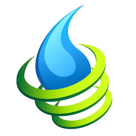 ciclo del agua: resumen icono de gota de agua Vectores