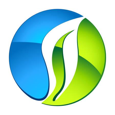 icono ecologico: agua y la naturaleza - eco icono