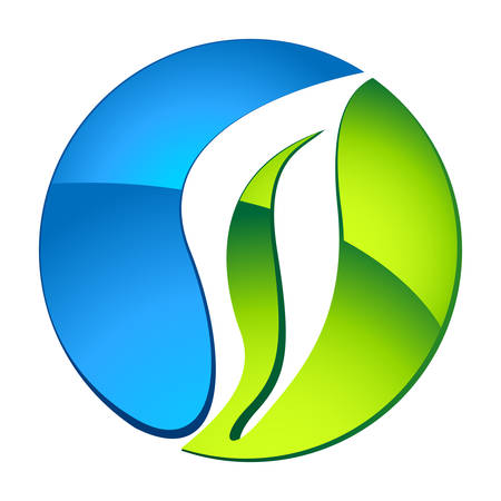 Agua y la naturaleza - eco icono Foto de archivo - 22504793
