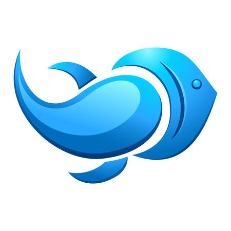 fish and water drops Vector