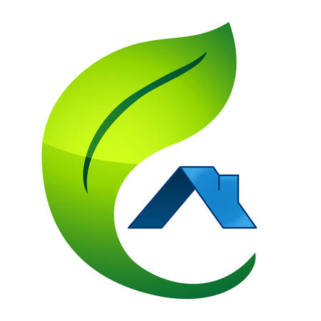 housetop: eco friendly house - real estate symbol