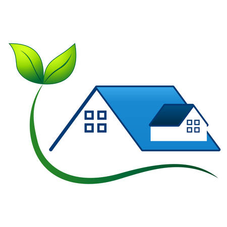 home products: eco friendly house - real estate symbol
