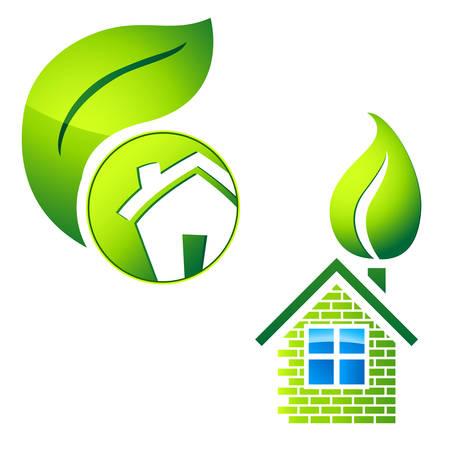 brokerage: eco friendly house - real estate symbol