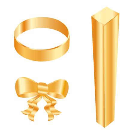 golden icons Vector