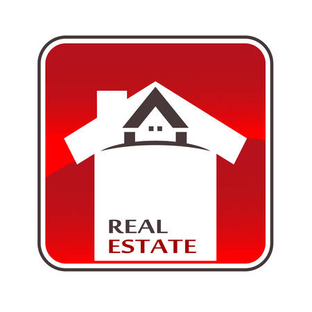 brokers: real estate button Illustration